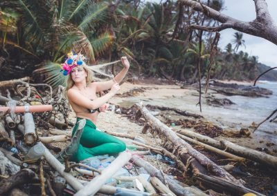 Plastic Pollution Mermaid, Panama © Lucas Sinclair