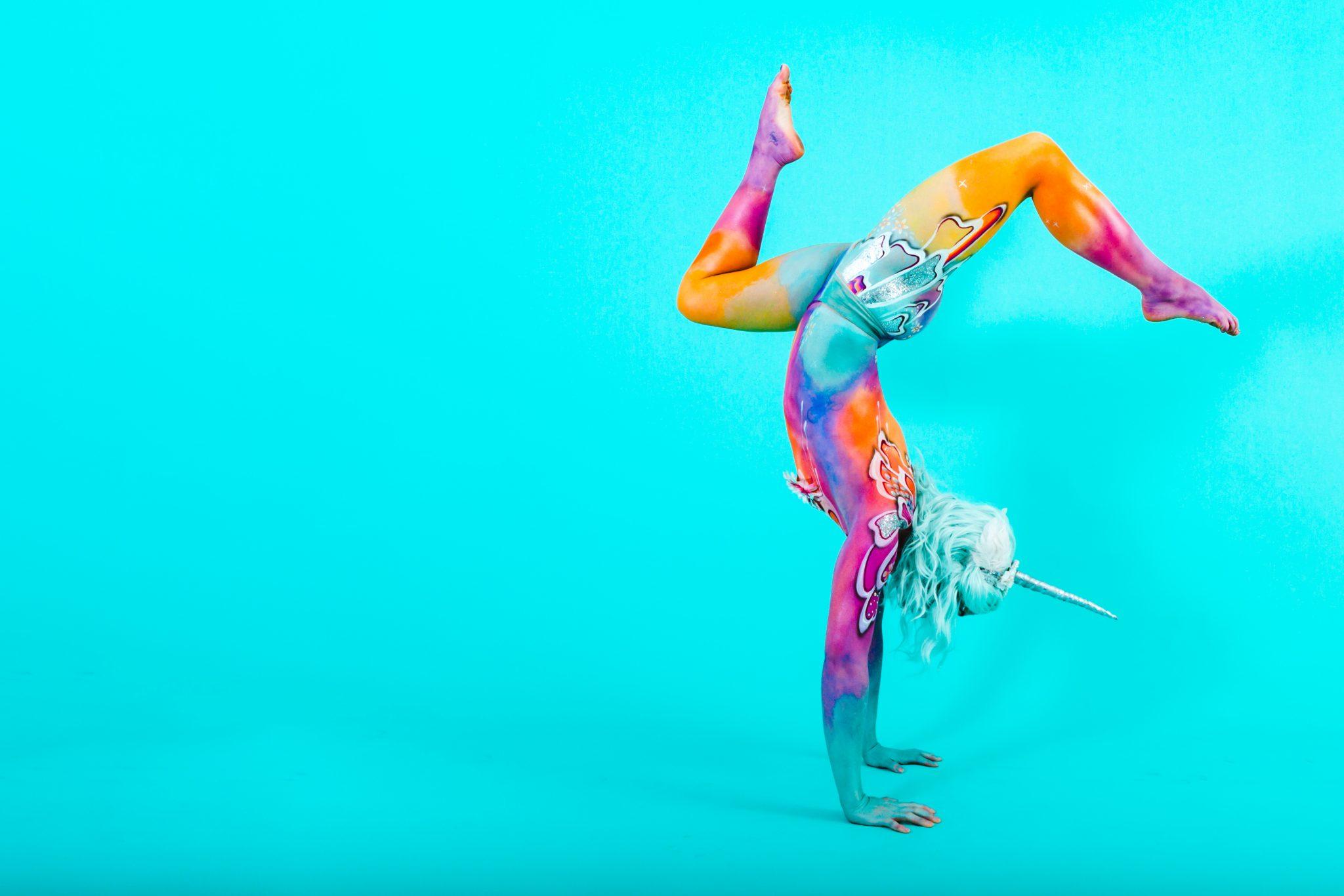 Unicorn Body Paint - Phoebe © Lucas Sinclair
